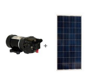 Kit Pompe et panneau solaire FLOJET 19L/min